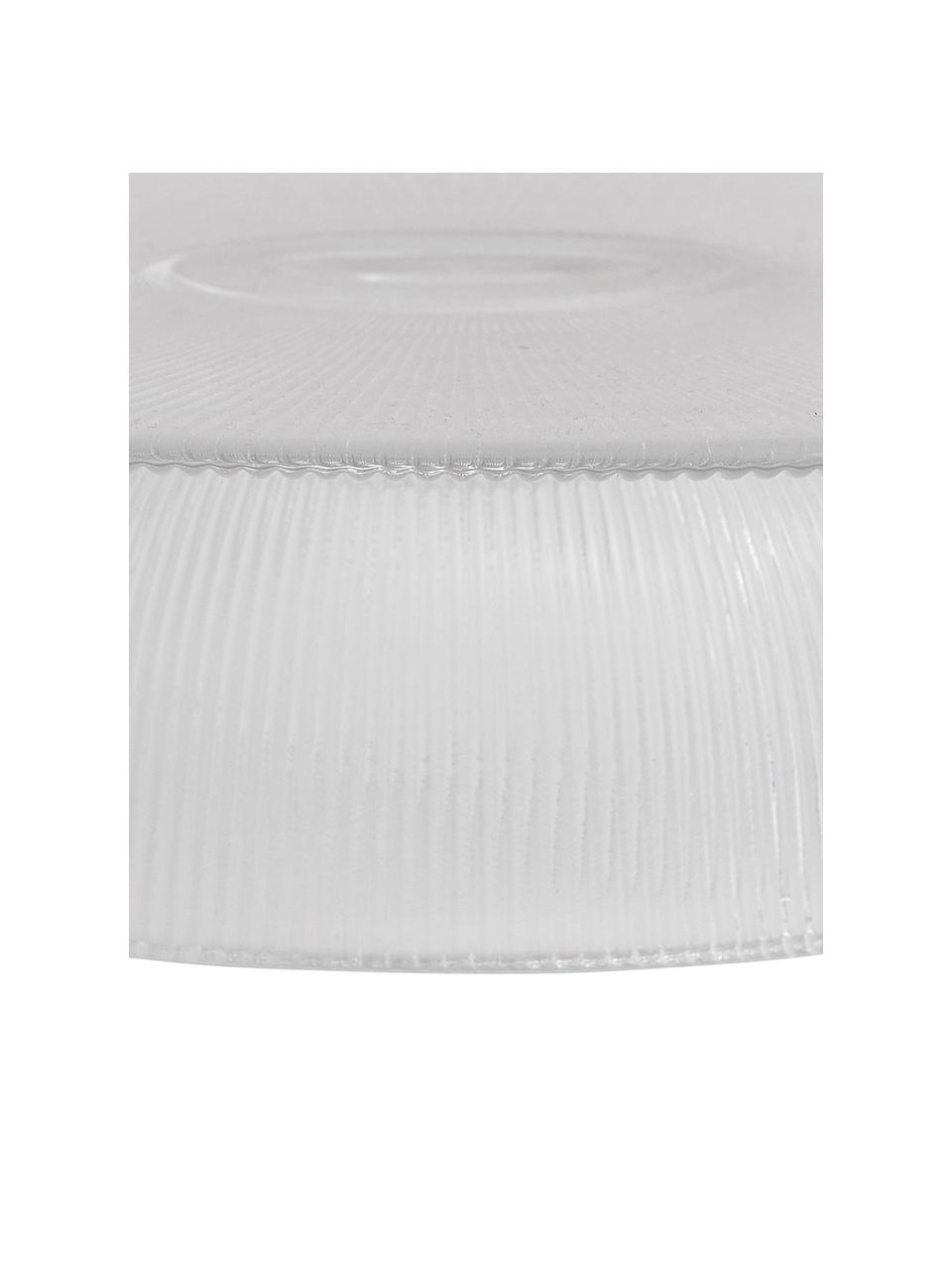 Geribbeld taartplateau Fig van glas, Glas, Transparant, Ø 30 x H 8 cm