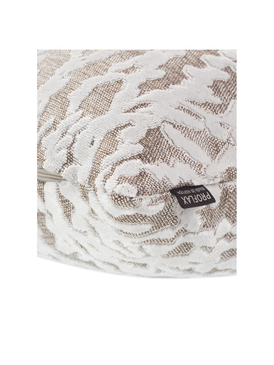 Kussenhoes Elio met structuurpatroon in crèmewit/beige, 52% viscose, 41% polyester, 7% katoen, Beige, crèmewit, 40 x 40 cm