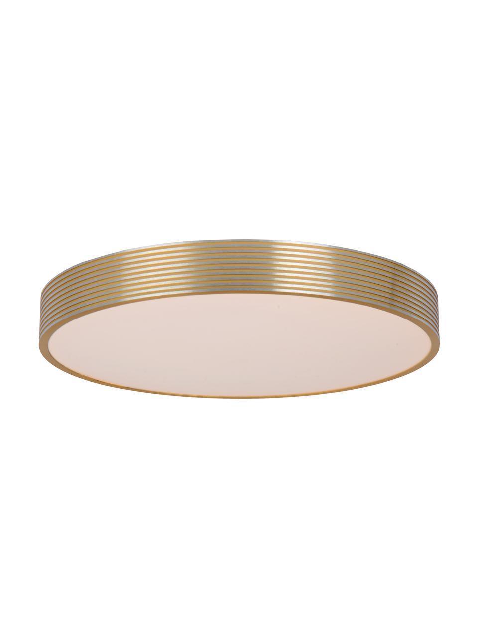 LED-Deckenleuchte Malin aus Metall, Lampenschirm: Metall, Diffusorscheibe: Acryl, Goldfarben, Weiß, Ø 39 x H 7 cm