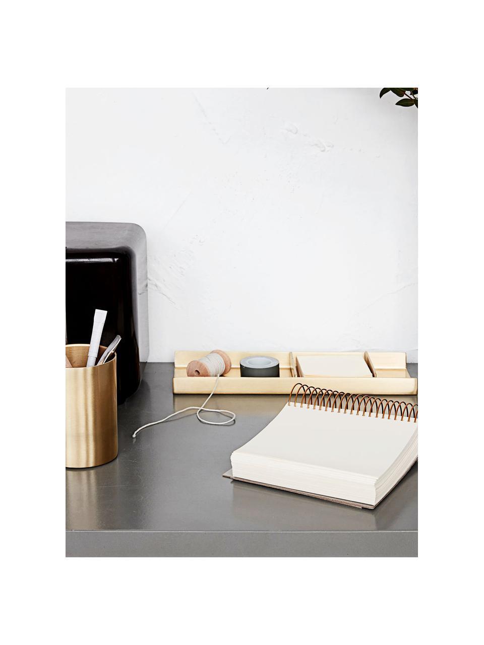 Bureau-organizerset Stationary, 3-delig, Metaal, Goudkleurig, 27 x 10 cm