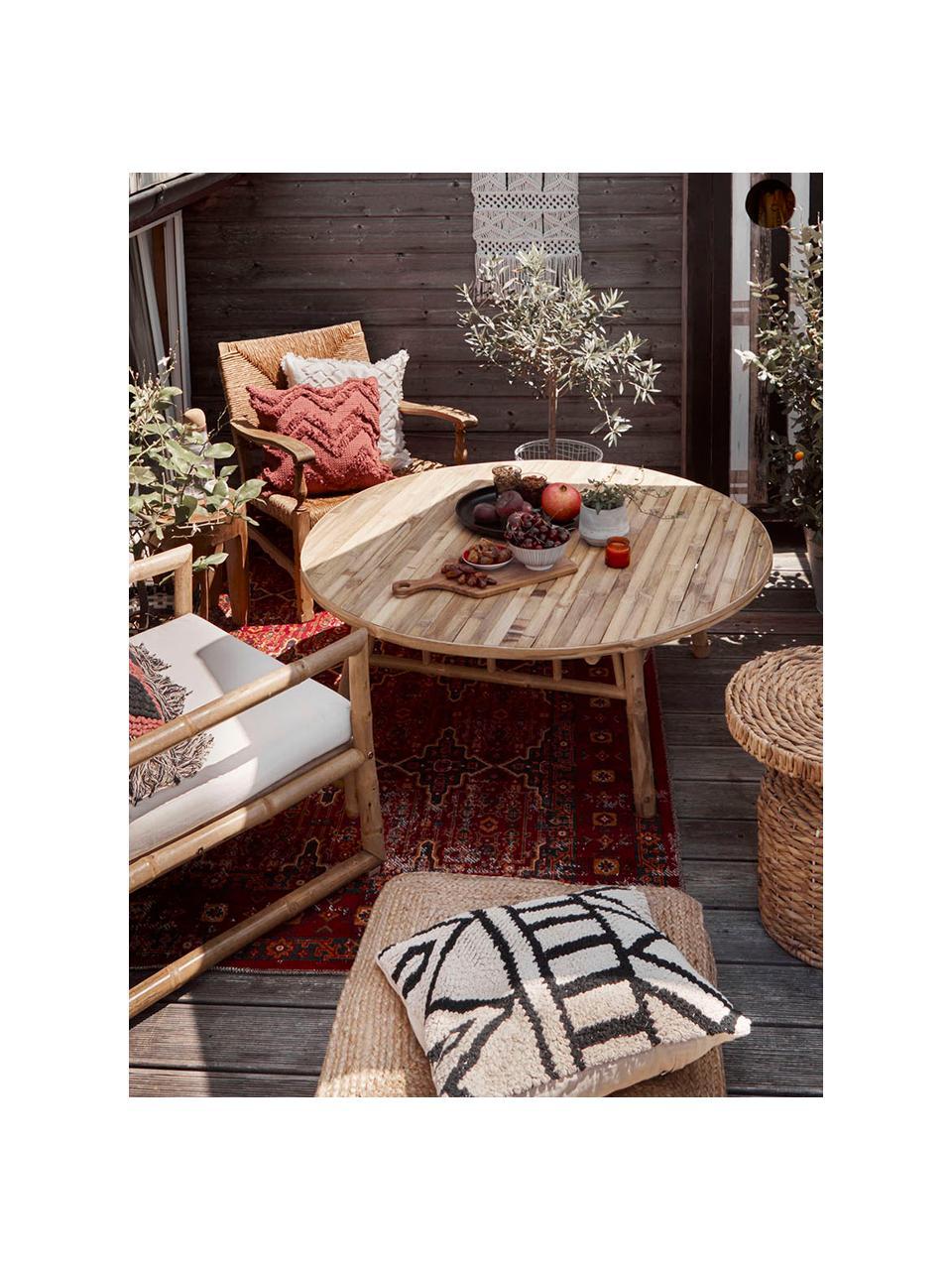 Dywan wewnętrzny/zewnętrzny w stylu orient Tilas Istanbul, 100% polipropylen, Ciemny czerwony, musztardowy, khaki, S 160 x D 230 cm (Rozmiar M)