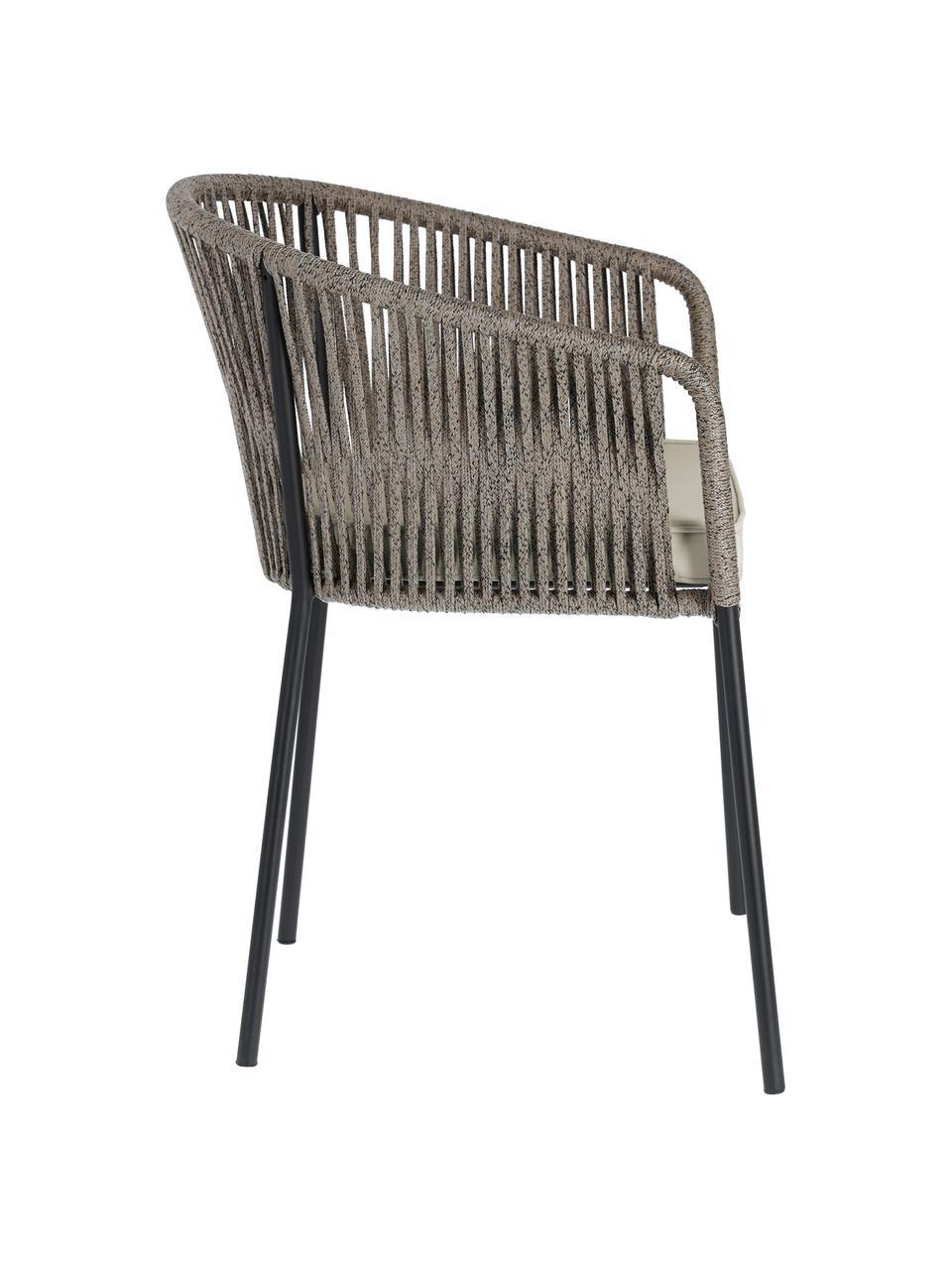 Chaise de jardin Yanet, Gris