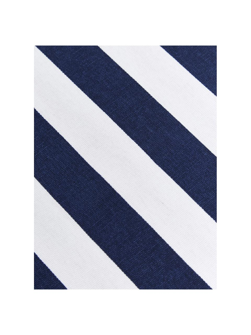 Federa arredo a righe color blu scuro/bianco Timon, 100% cotone, Blu scuro, bianco, Larg. 50 x Lung. 50 cm