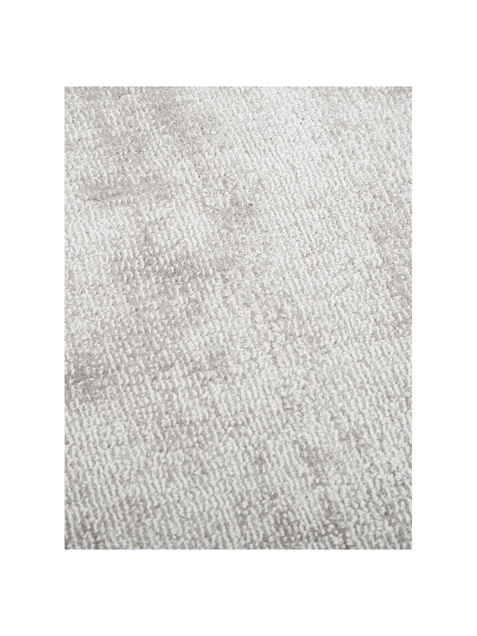 Tapis de couloir gris en viscose Jane, Gris-beige clair