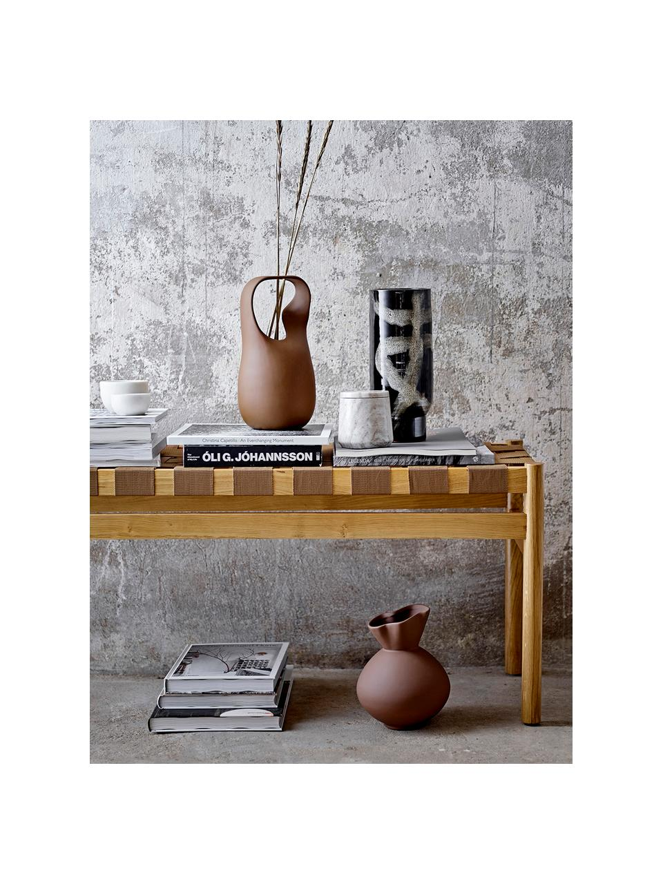 Aufbewahrungsdose Felica, Marmor, Beige, Ø 10 x H 10 cm