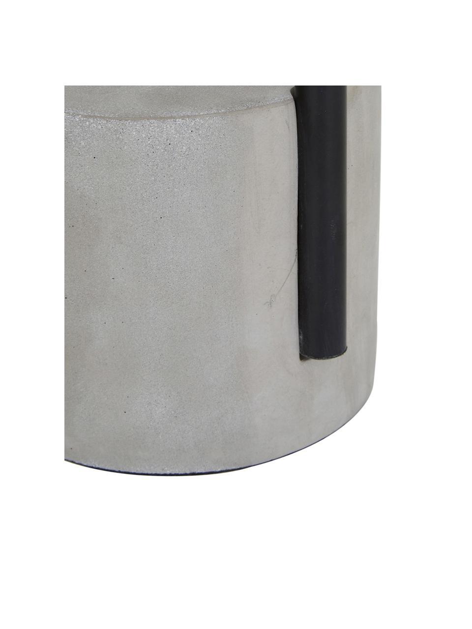 Grote tafellamp Pipero met betonnen voet, Lampenkap: textiel, Lampvoet: gepoedercoat metaal, beto, Lampenkap: zwart. Lampvoet: mat zwart, grijs. Snoer: zwart, Ø 28 x H 51 cm
