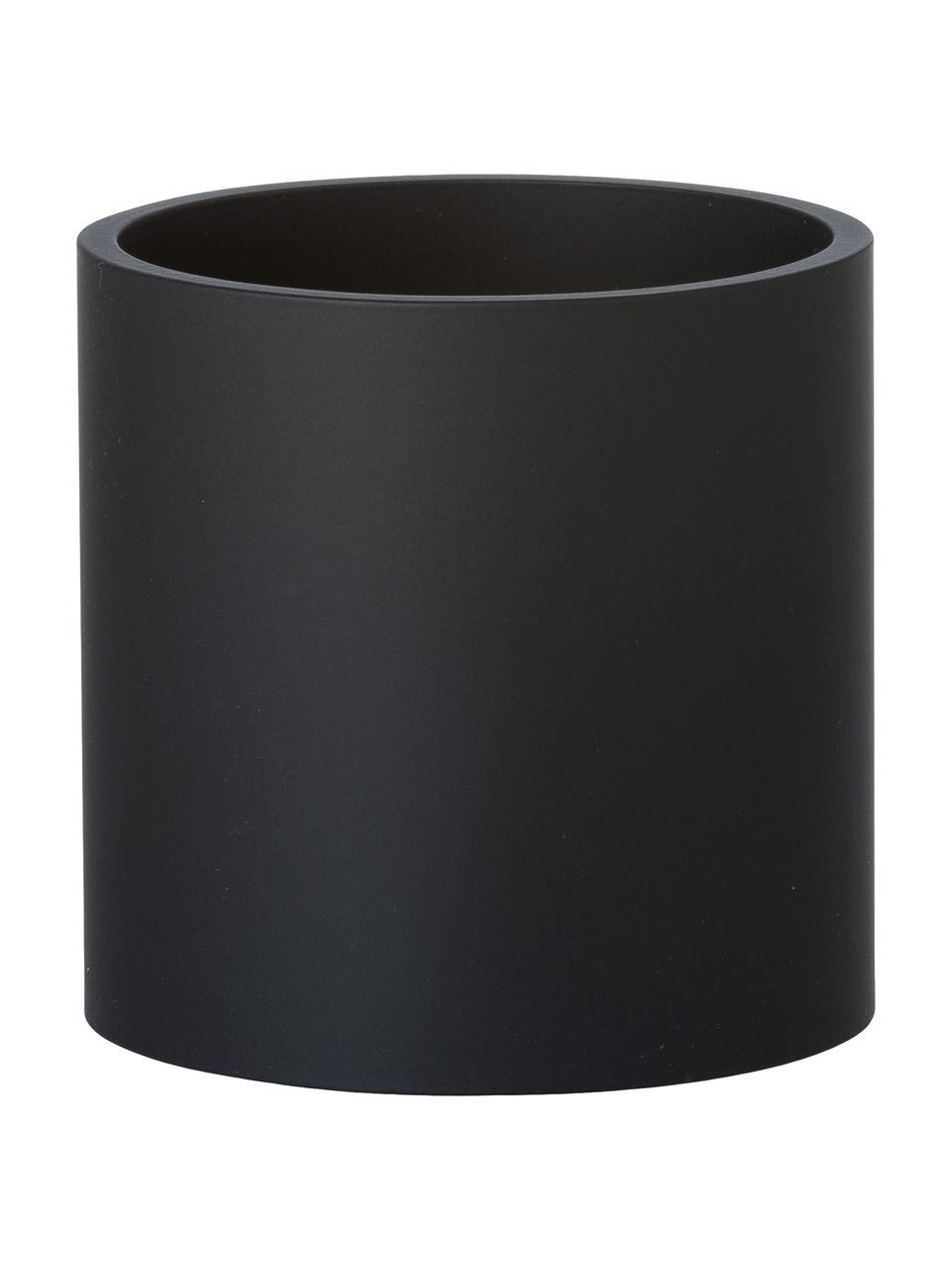 Applique nera Roda, Paralume: alluminio verniciato a po, Nero, Larg. 10 x Alt. 10 cm