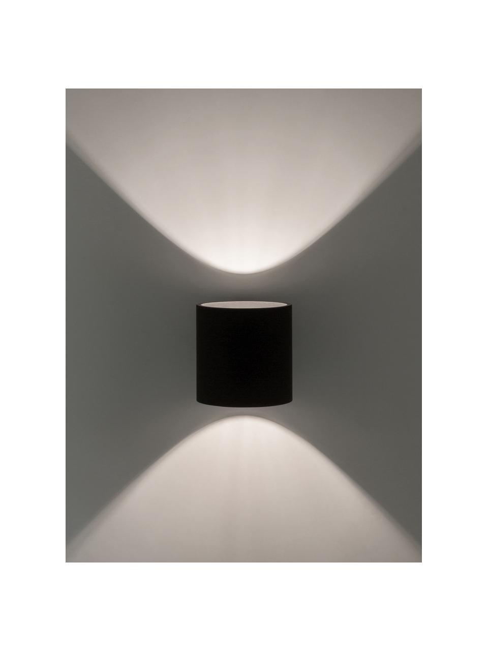 Wandleuchte Roda in Schwarz, Lampenschirm: Aluminium, pulverbeschich, Schwarz, 10 x 10 cm