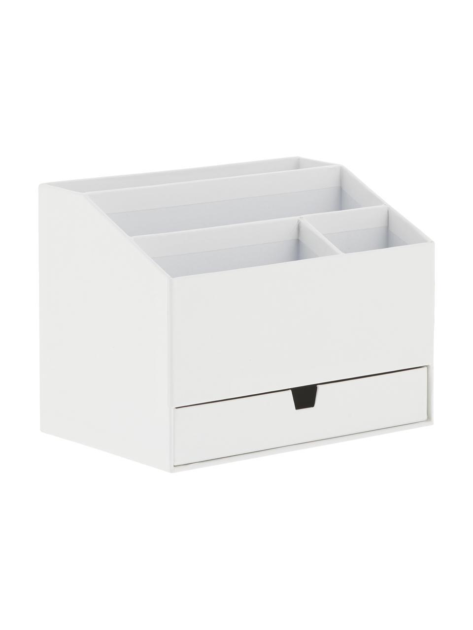 Büro-Organizer Greta, Fester, laminierter Karton, Weiß, 24 x 18 cm