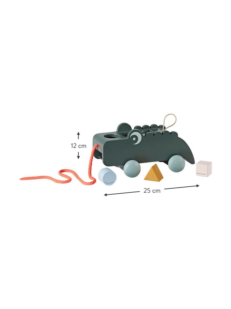 Zieh-Sortierbox Croco, Rollen: Kunststoff (TPE), Grün, 25 x 12 cm