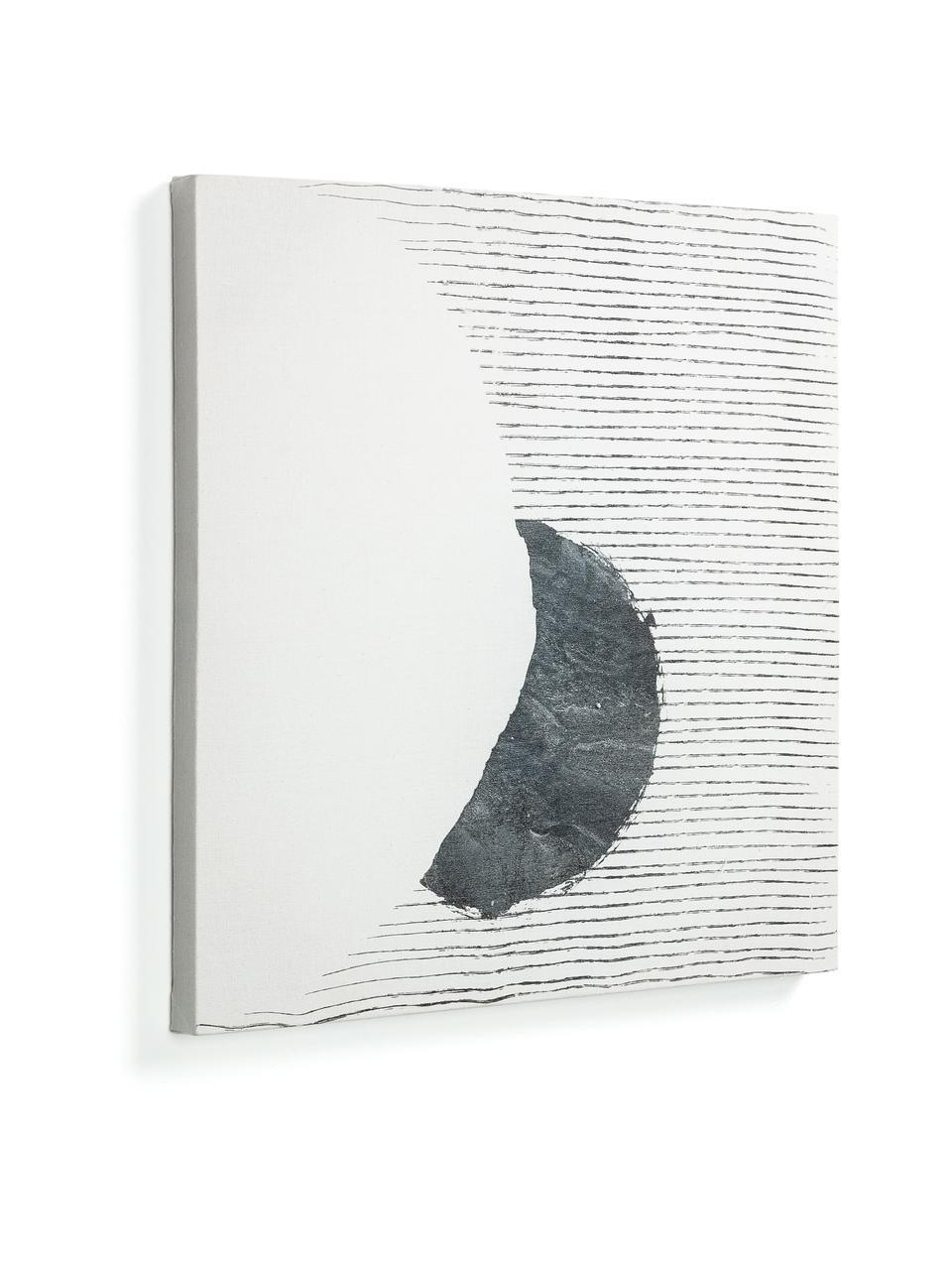 Stampa su tela Prisma, Immagine: tela, Bianco, nero, Larg. 50 x Alt. 50 cm