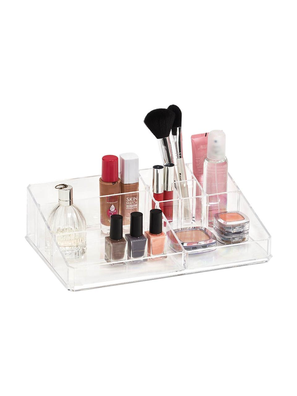 Make-up organizer Clear, Kunststof, Transparant, 32 x 9 cm