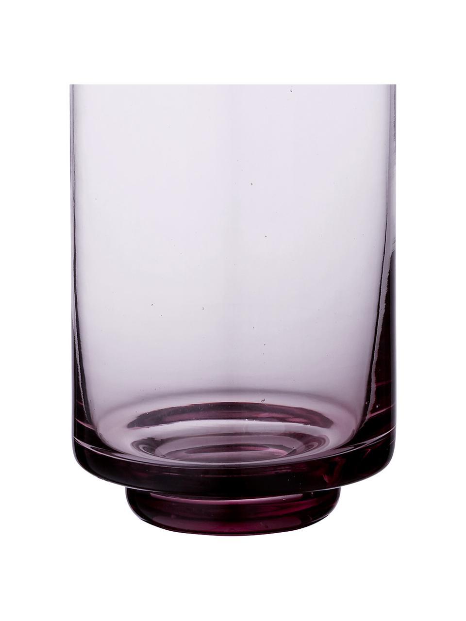 Vaso decorativo in vetro soffiato Hedria, Vetro, Rosa, Ø 11 x Alt. 30 cm