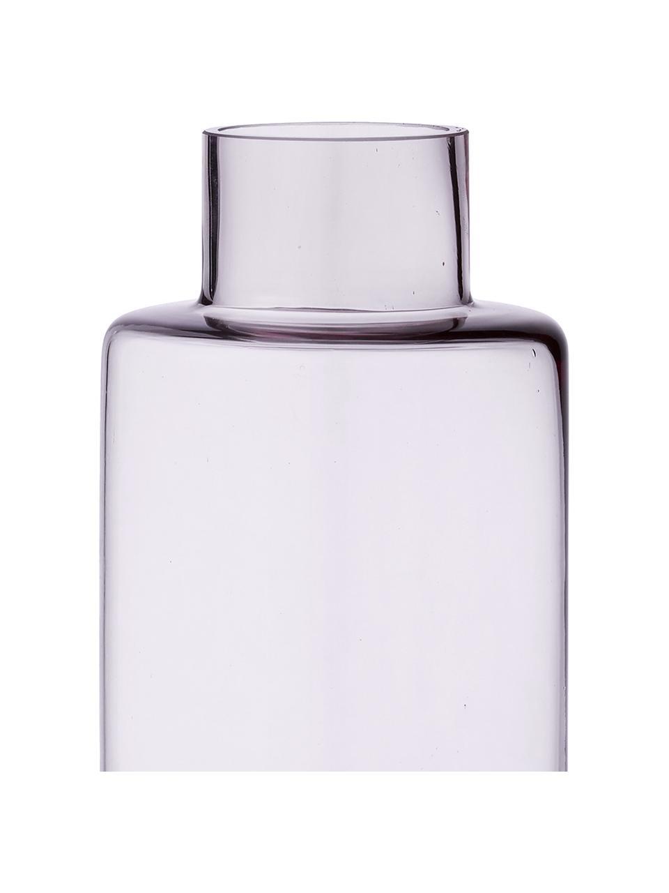 Große mundgeblasene Vase Hedria, Glas, Rosa, Ø 11 x H 30 cm
