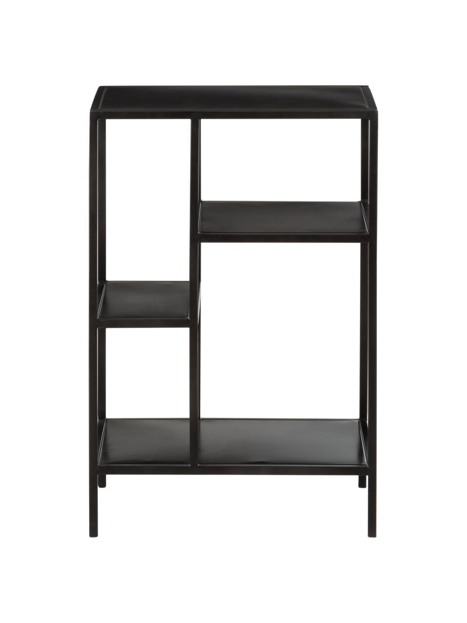 Mensola in metallo nera Display, Metallo verniciato a polvere, Nero, Larg. 50 x Prof. 74 cm