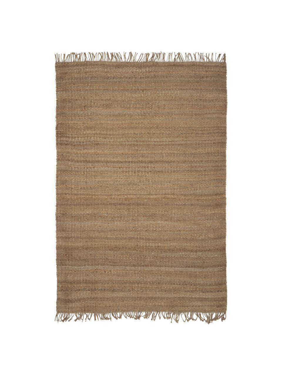 Tappeto in juta fatto a mano con frange Naturals, 100% juta, Juta, Larg. 200 x Lung. 300 cm (taglia L)
