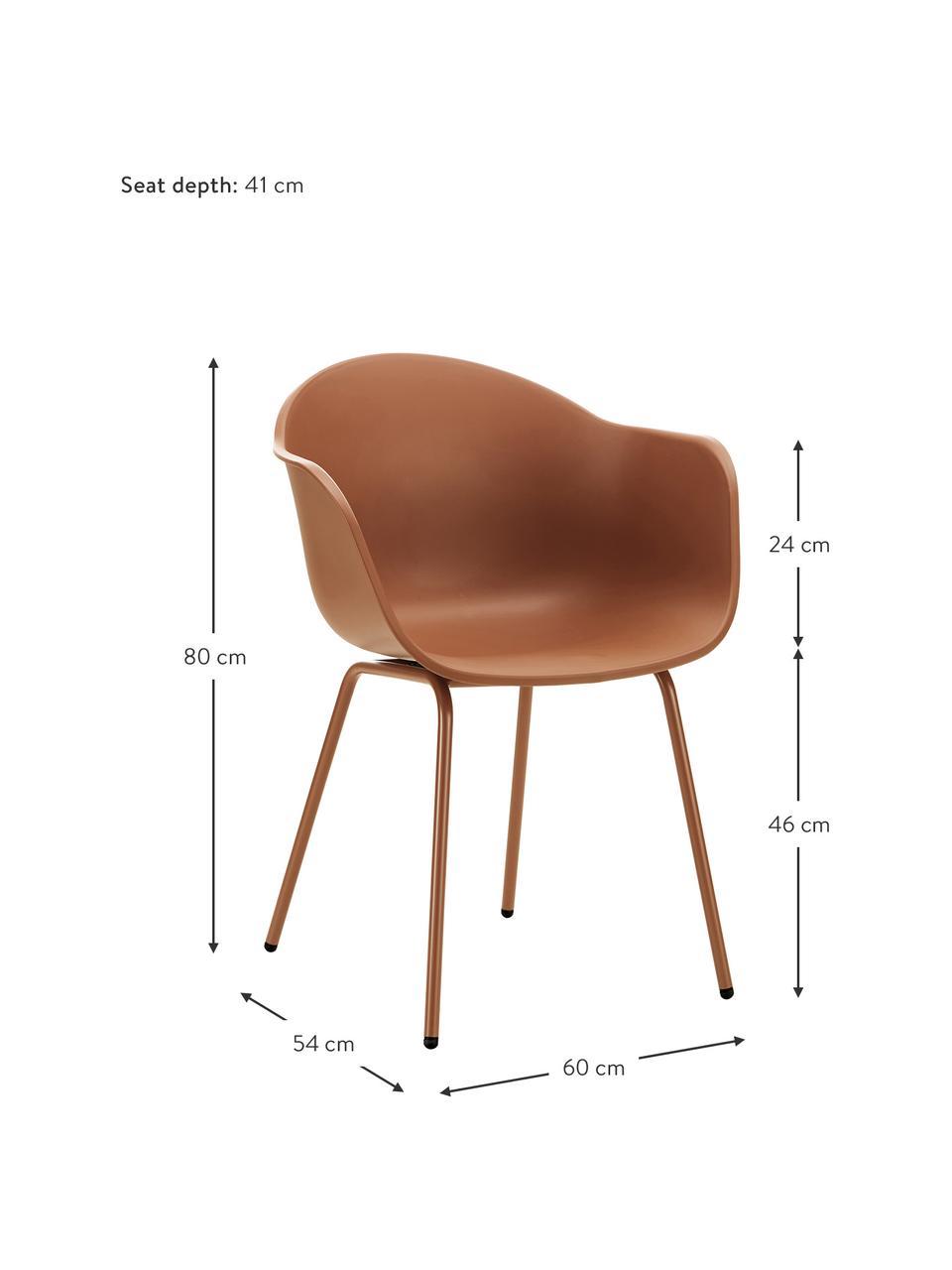 Zahradní židle Claire, Hnědá