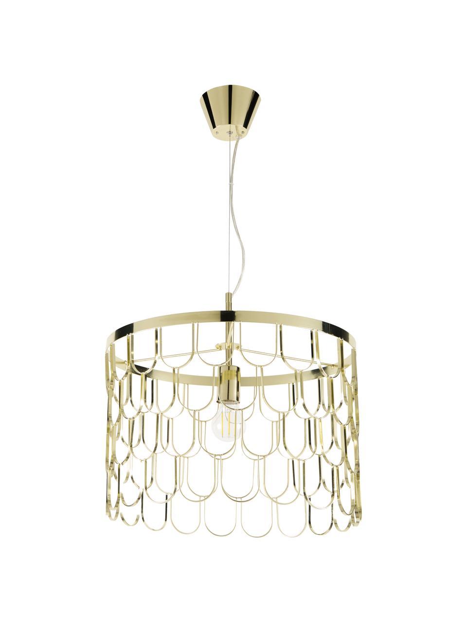 Pendelleuchte Gatsby, Lampenschirm: Metall, Baldachin: Metall, Messing, Ø 45 x H 32 cm