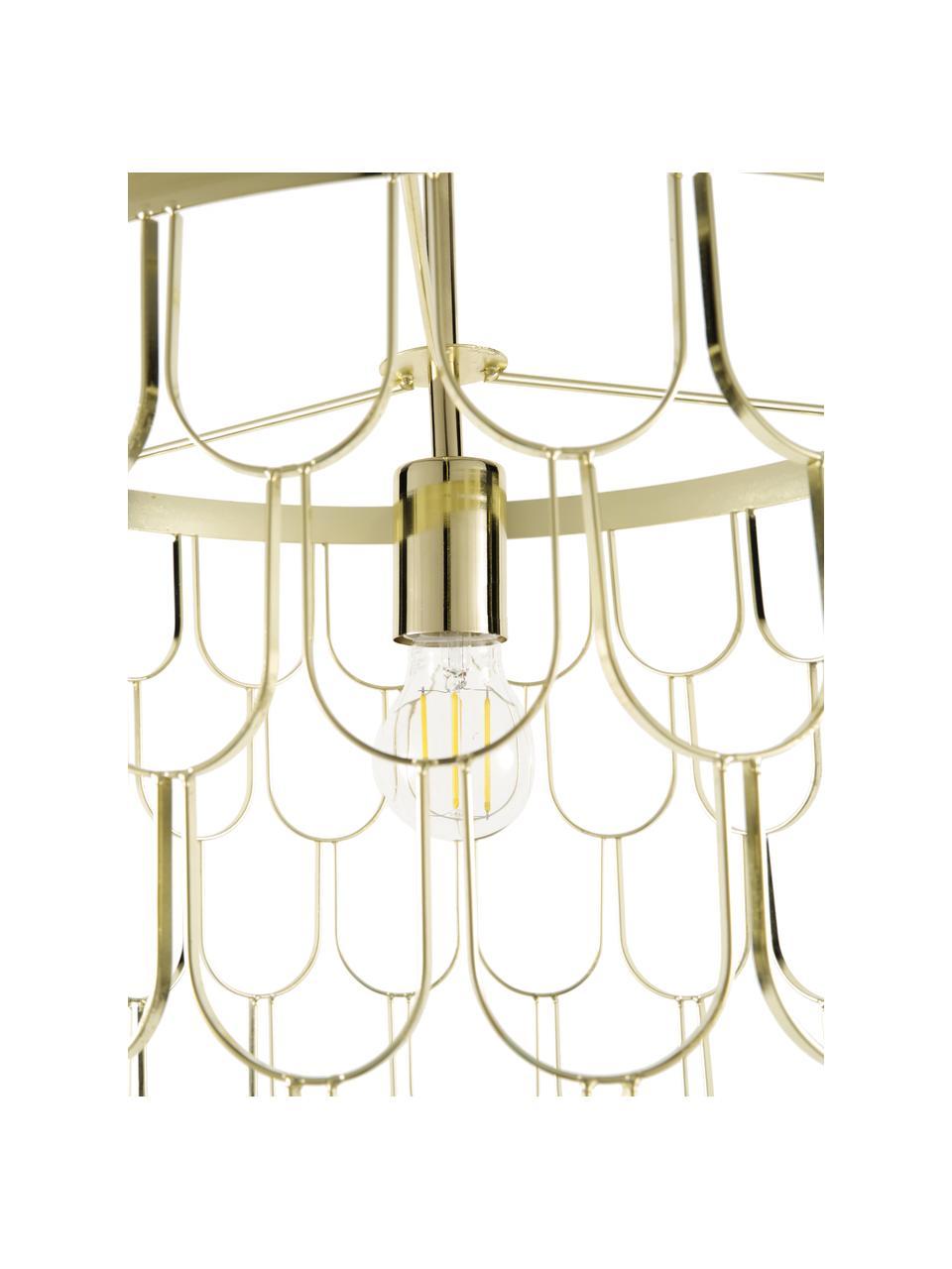 Lampada a sospensione di design Gatsby, Paralume: metallo, Baldacchino: metallo, Ottone, Ø 45 x Alt. 32 cm