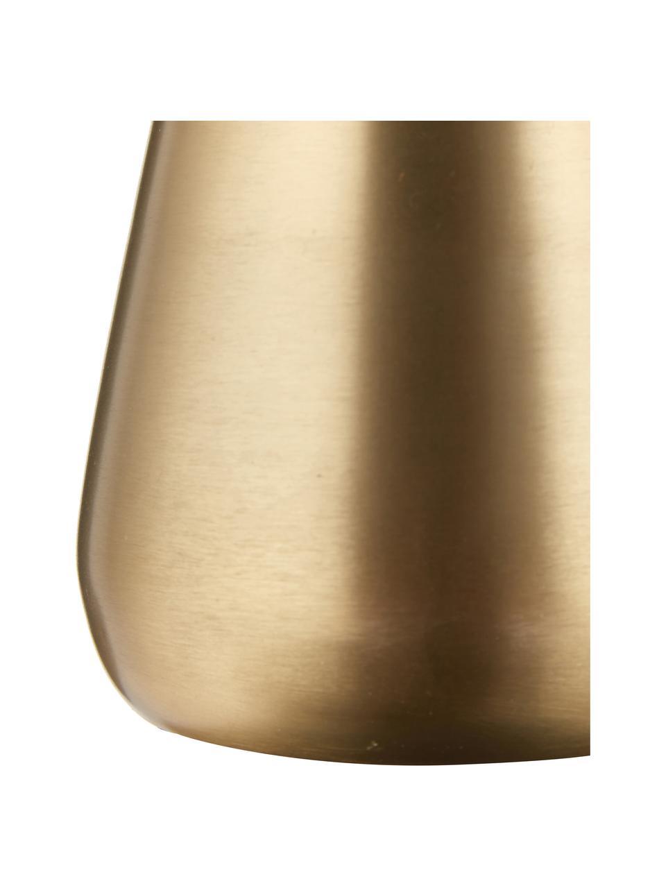 XS Deko-Vase Simply aus Metall, Metall, beschichtet und nicht wasserdicht, Messingfarben, Ø 10 x H 9 cm