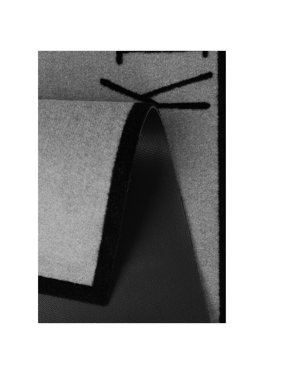 Tapis de cuisine antidérapant KitchenCutlery, Gris, noir