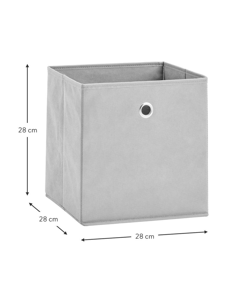 Aufbewahrungsbox Lisa, Bezug: Vlies, Gestell: Pappe, Metall, Grau, 28 x 28 cm