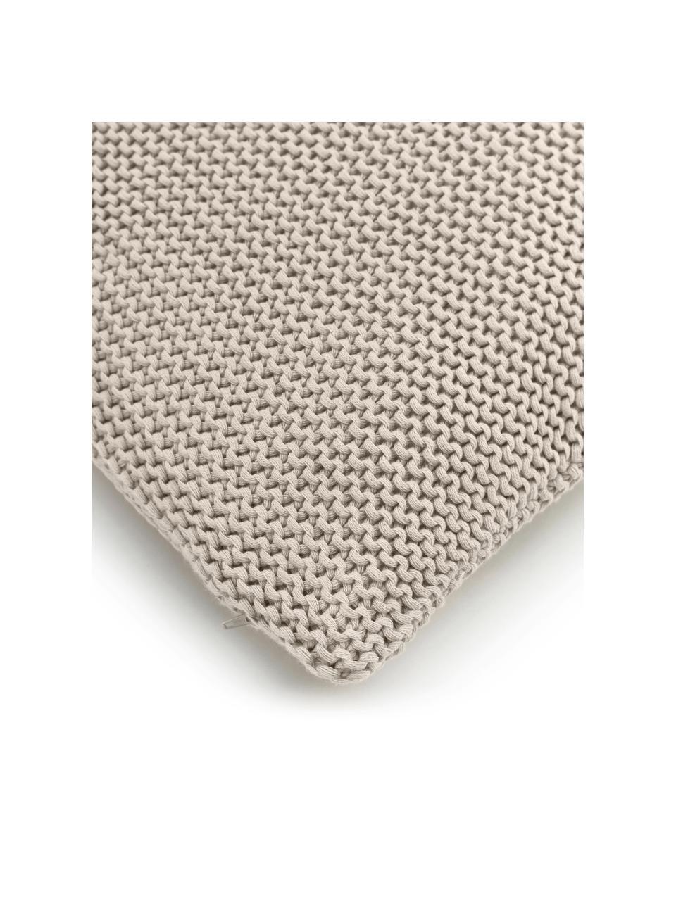 Pletený povlak na polštář z organické bavlny Adalyn, Béžová