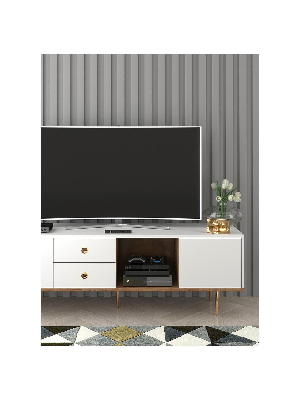 Meuble TV blanc Harmoni, Blanc