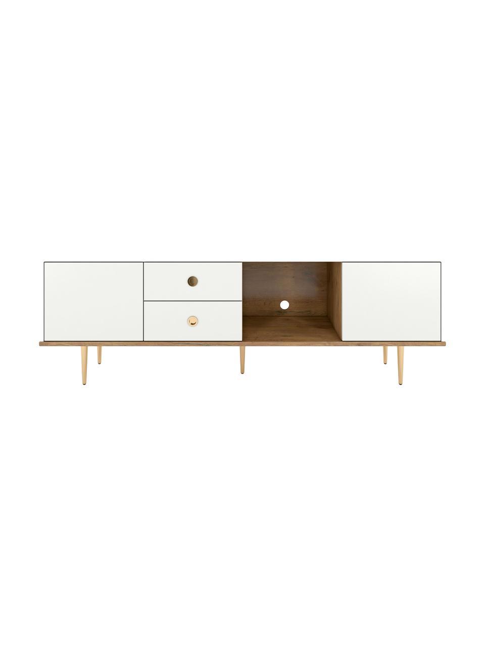 Mobile TV bianco Harmoni, Bianco, Larg. 160 x Alt. 53 cm