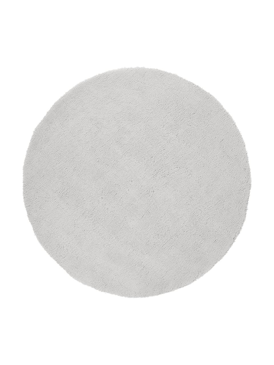 Okrągły puszysty dywan Leighton, Jasny szary, Ø 200 cm (Rozmiar L)