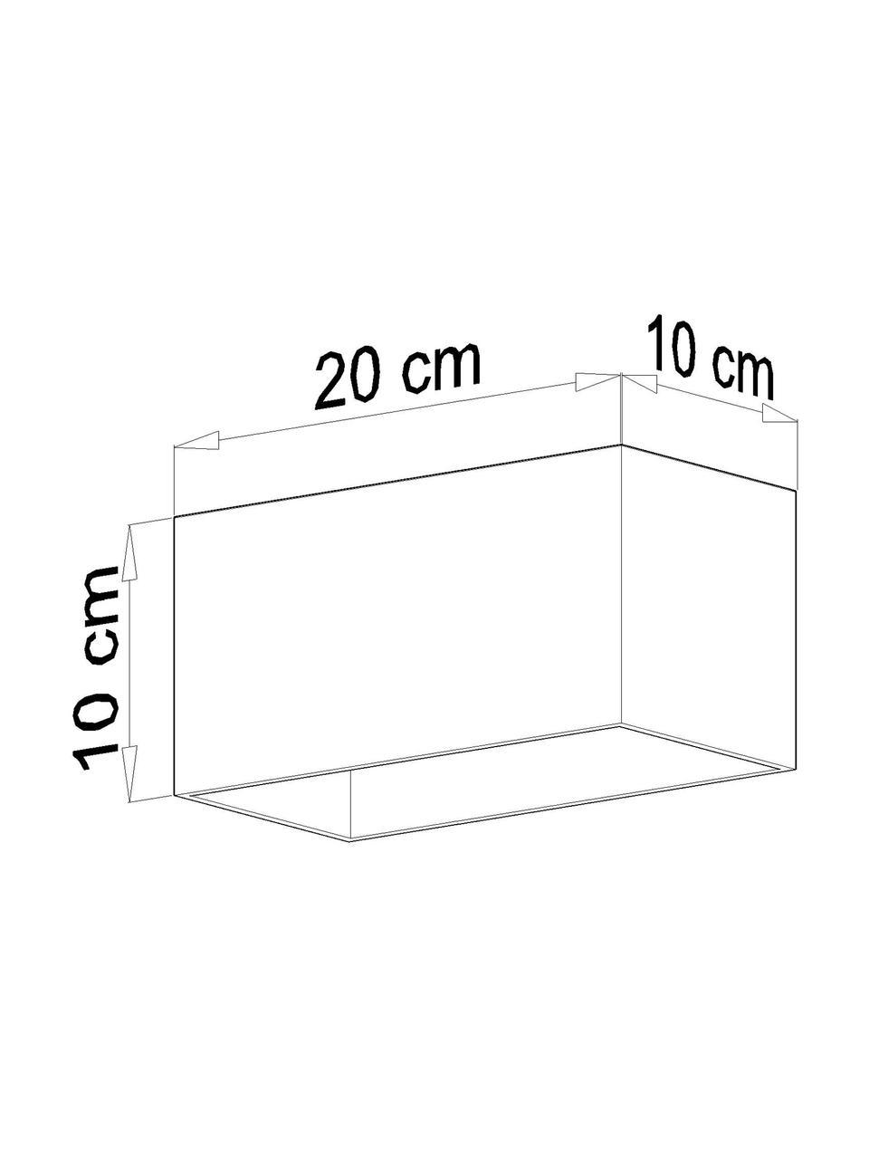 Faretti da soffitto nero Geo, Lampada: alluminio, Nero, Larg. 20 x Alt. 10 cm