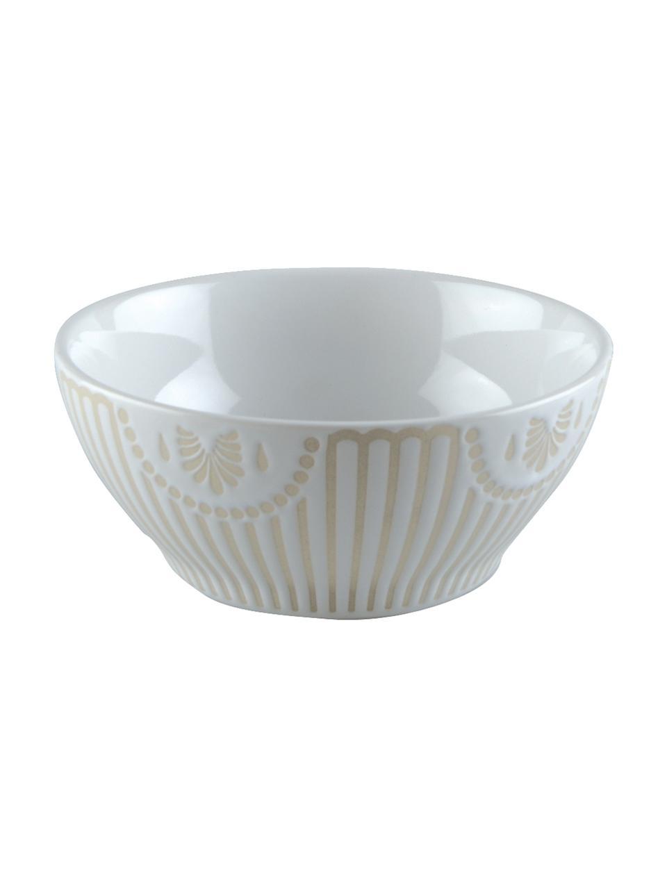 Bol petit déj en porcelaine Sonia, 2 pièces, Blanc