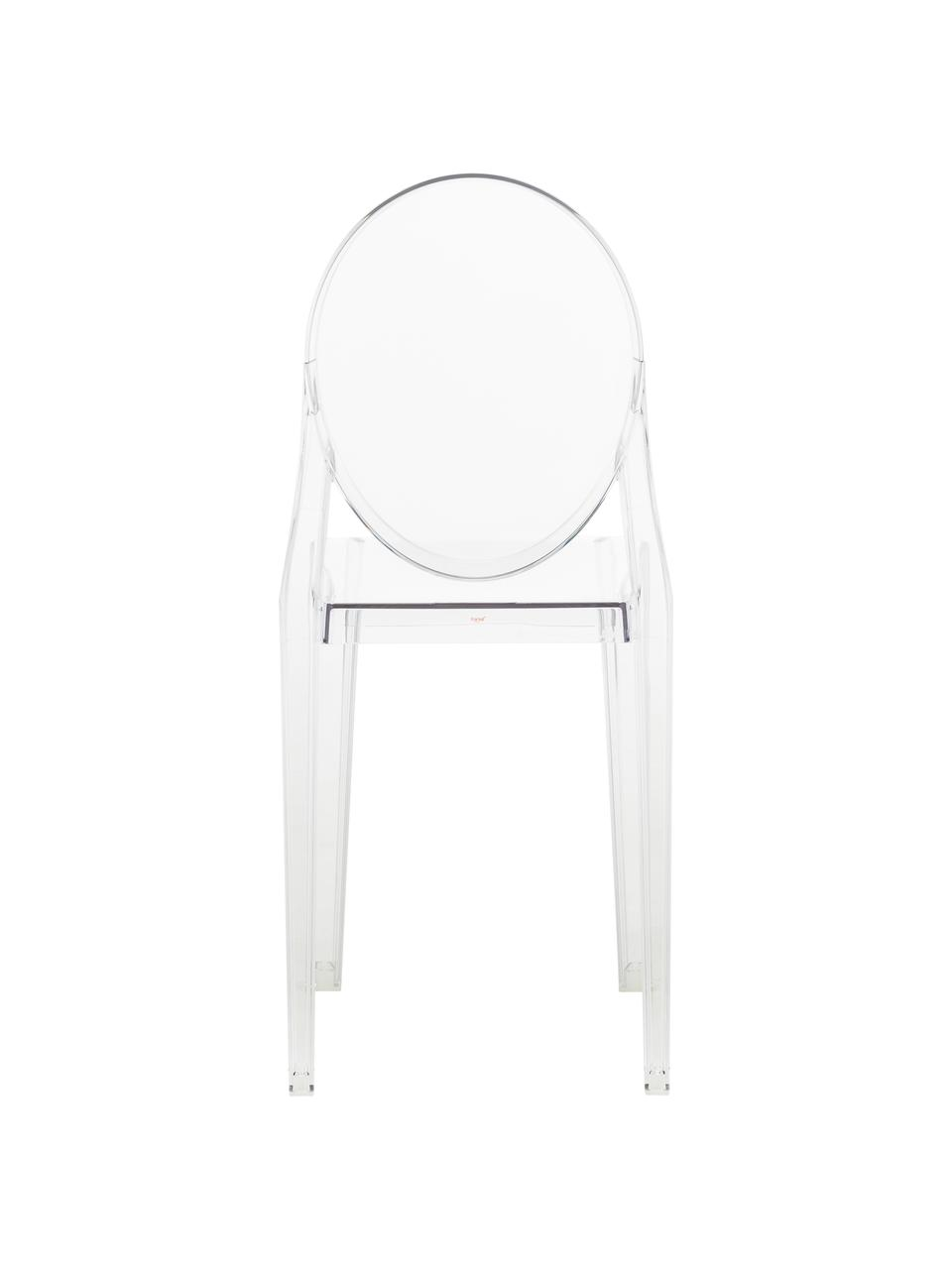Transparante stoel Ghost, Polycarbonaat, Transparant, 38 x 89 cm