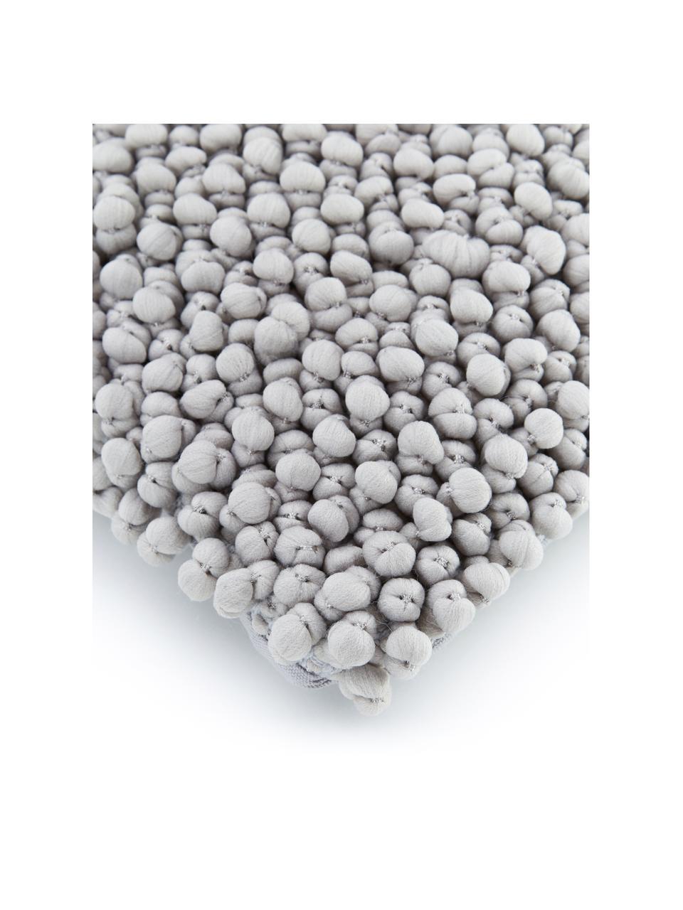 Kissenhülle Iona mit kleinen Stoffkugeln in Hellgrau, Vorderseite: 76% Polyester, 24% Baumwo, Rückseite: 100% Baumwolle, Grau, 30 x 50 cm