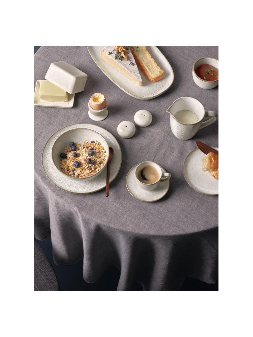 Frühstücksteller Saisons aus Steingut in Beige, 6 Stück, Steingut, Beige, Ø 21 x H 1 cm