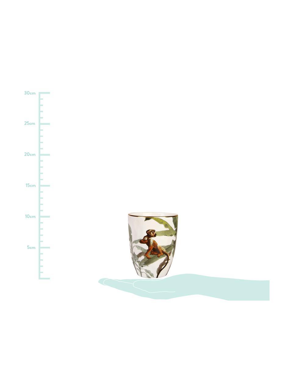 Komplet kubków Animaux, 4 elem., Porcelana, Wielobarwny, Ø 8 x W 10 cm