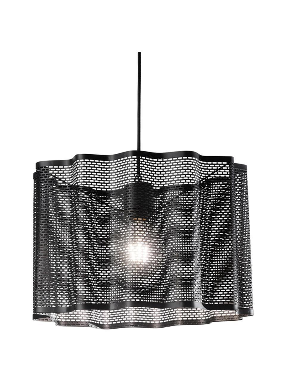 Lampa wisząca Glicine, Czarny, Ø 40 x W 28 cm