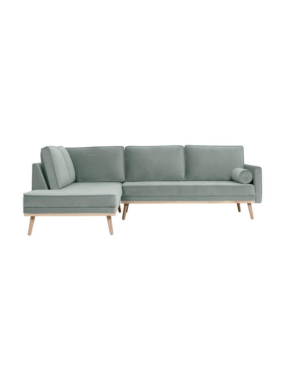 Canapé d'angle 3places velours vert sauge Saint, Velours vert sauge