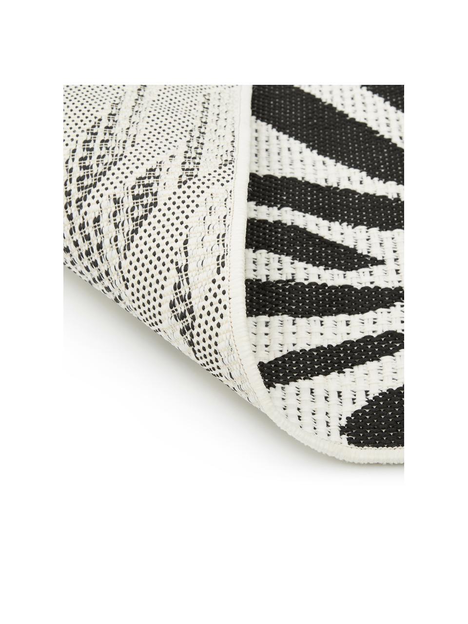 In- & Outdoor-Teppich Exotic mit Zebra Print, 86% Polypropylen, 14% Polyester, Cremeweiß, Schwarz, B 120 x L 170 cm (Größe S)