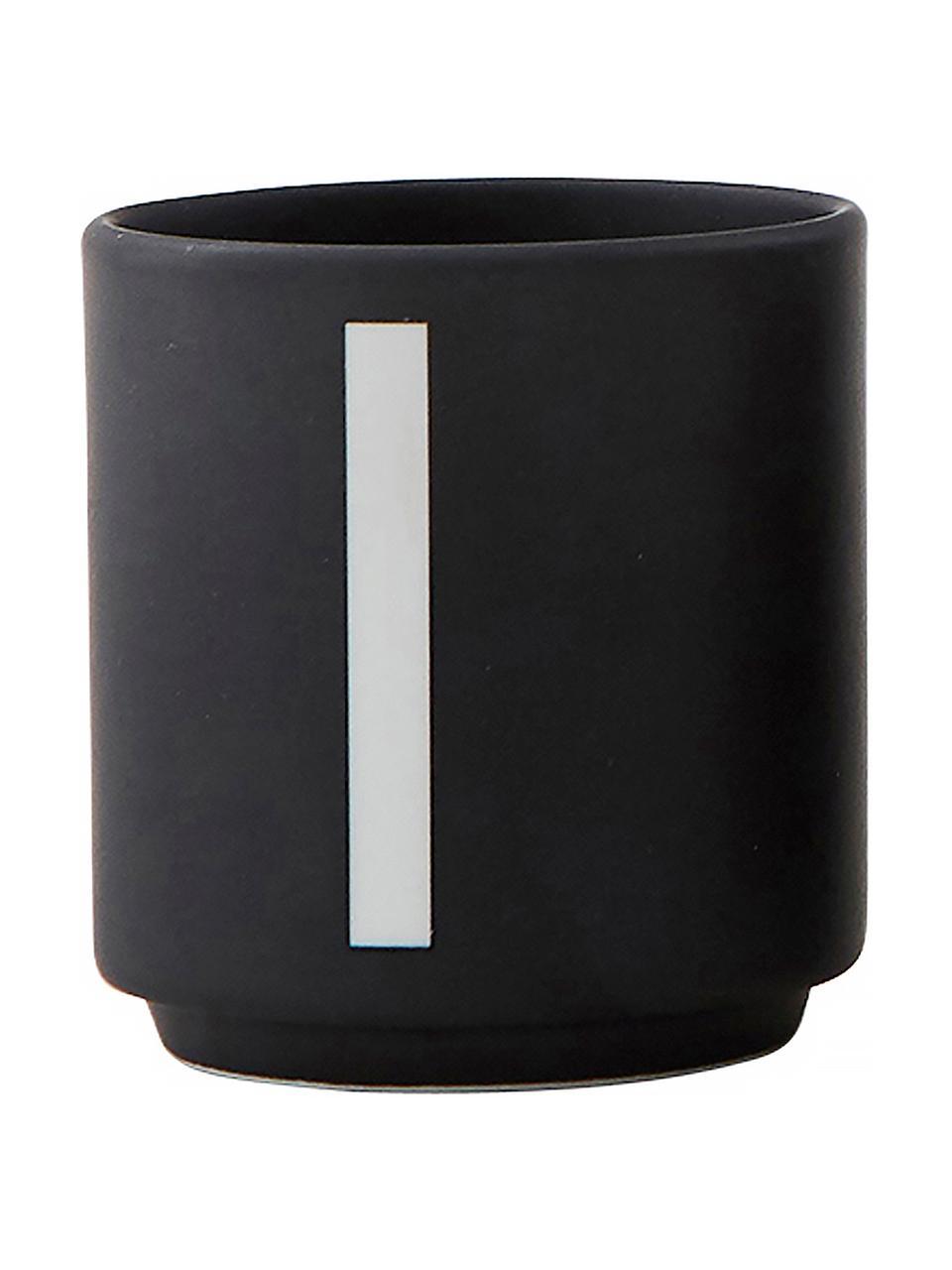 Komplet filiżanek do espresso 1234, 4 elem., Porcelana kostna (Fine Bone China) Porcelana kostna to miękka porcelana wyróżniająca się wyjątkowym, półprzezroczystym połyskiem, Czarny, biały, Ø 5 x W 6 cm