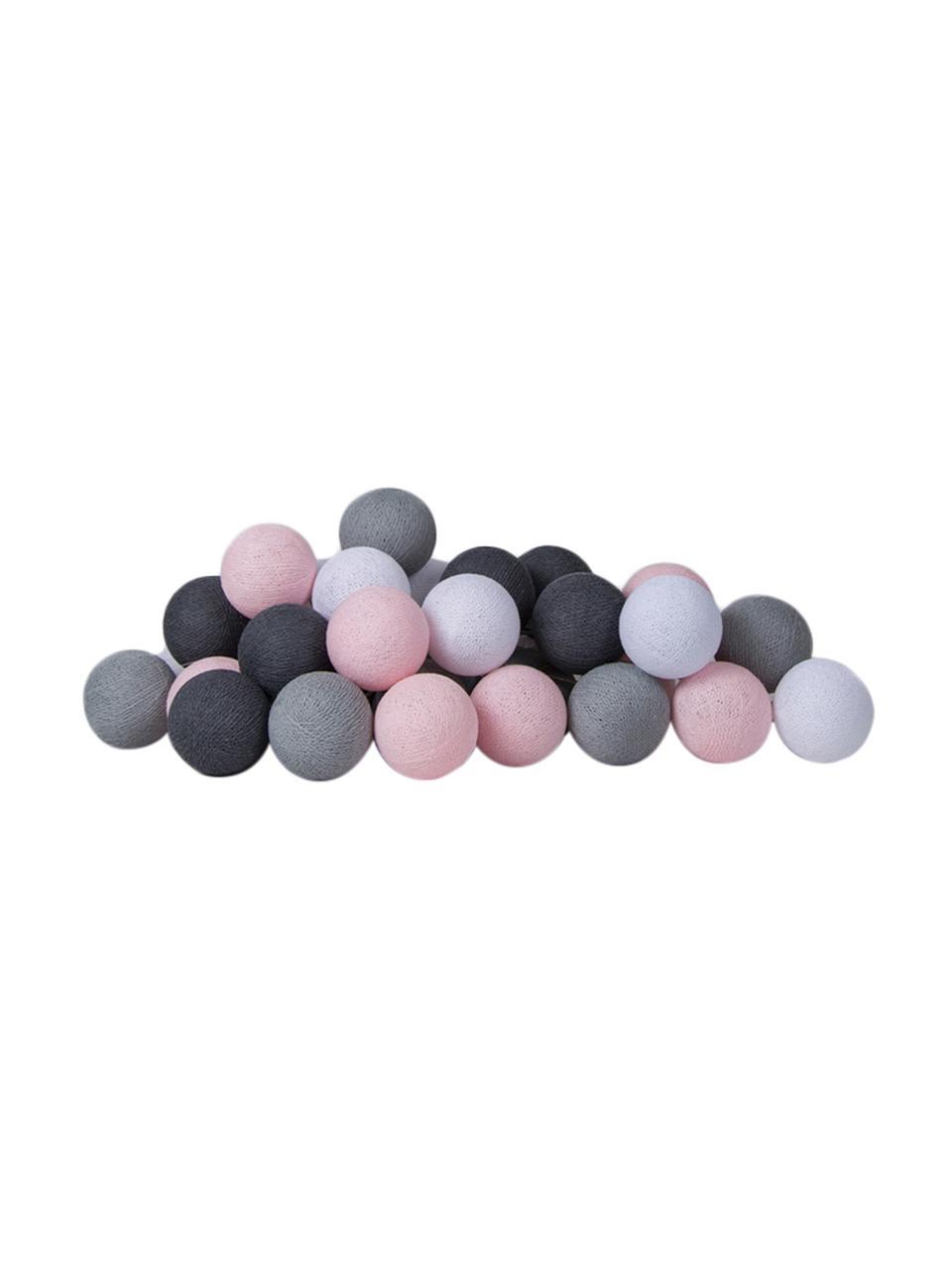 Girlanda świetlna LED Colorain, Blady różowy, odcienie szarego, D 264 cm