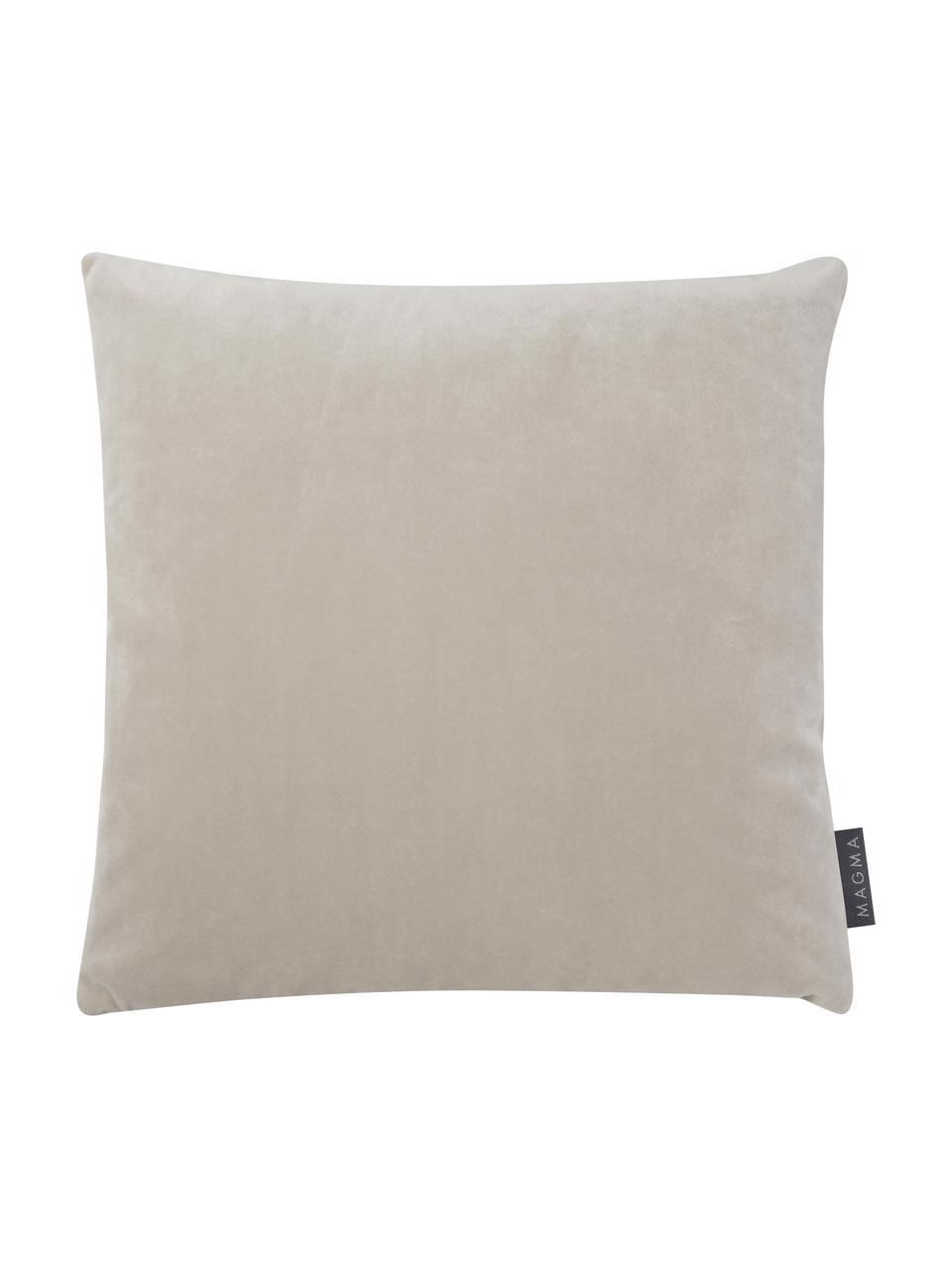 Funda de cojín Dulce, 78%poliéster, 22%algodón, Beige, An 40 x L 40 cm