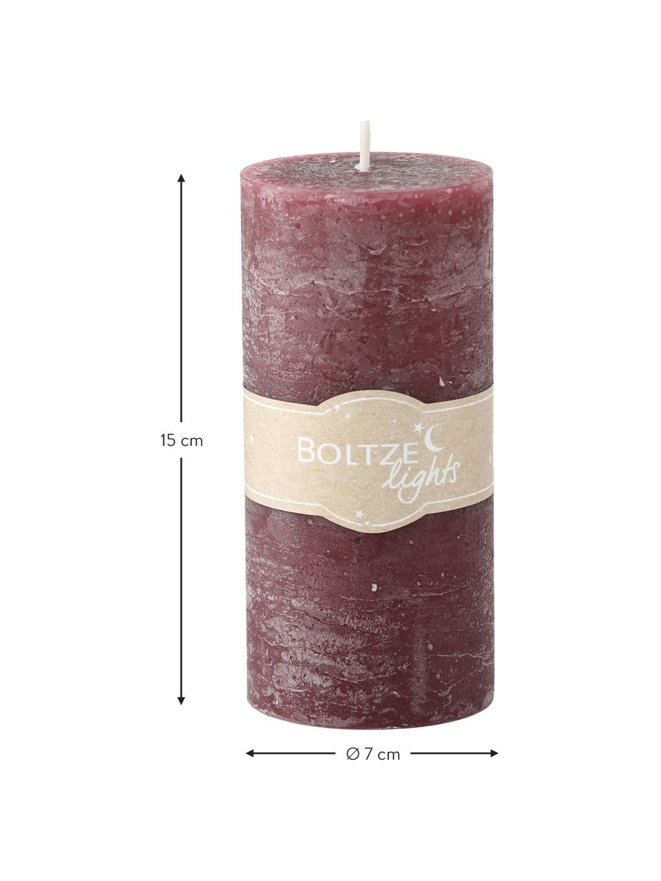 Stumpenkerzen-Set Trent, 3-tlg., Wachs, Rottöne, Ø 7 x H 15 cm