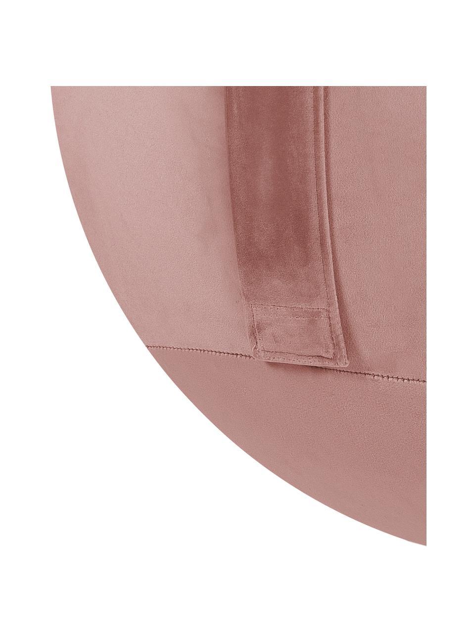 Piłka do siedzenia z aksamitu Velvet, Tapicerka: aksamit poliestrowy, Brudny różowy, Ø 65 cm