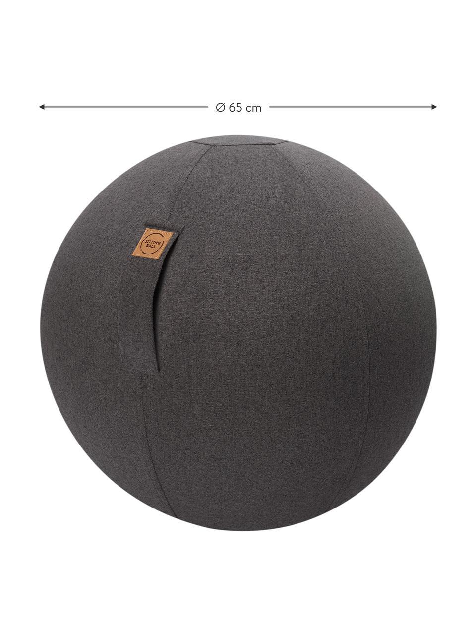 Piłka do siedzenia z rączką Felt, Tapicerka: poliester (imitacja filcu, Antracytowy, Ø 65 cm