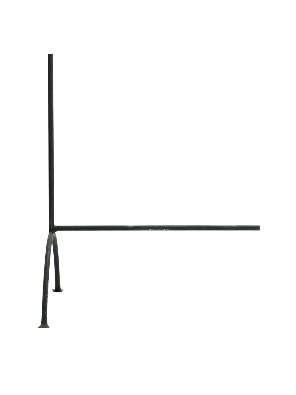 Wieszak stojący z metalu Rail, Metal lakierowany, Czarny z antycznym wykończeniem, S 80 x W 160 cm