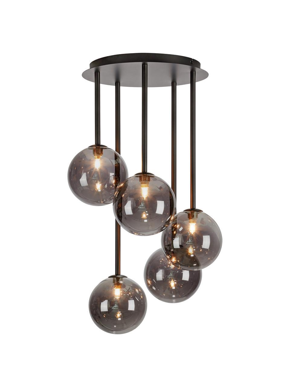 Lampa wisząca ze szkła lustrzanego Universe, Czarny, Ø 40 x W 68 cm