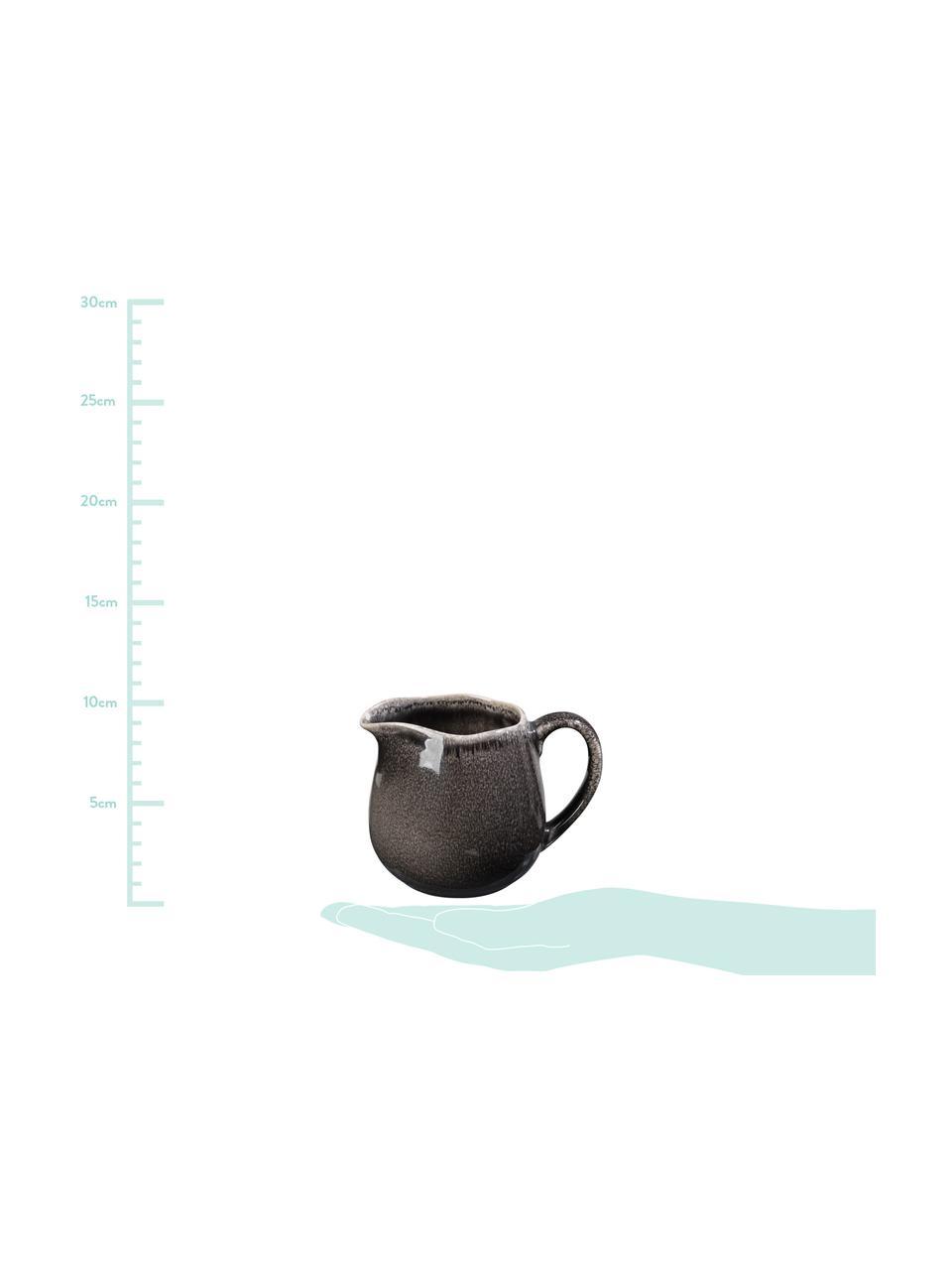 Handgemachtes Milchkännchen Nordic Coal aus Steingut, 300 ml, Steingut, Bräunlich, Ø 12 x H 9 cm