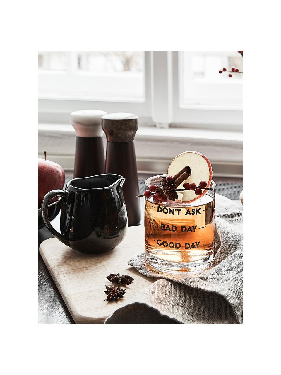 Pot à lait noir en grès fait main Nordic Coal, 300ml, Tons bruns
