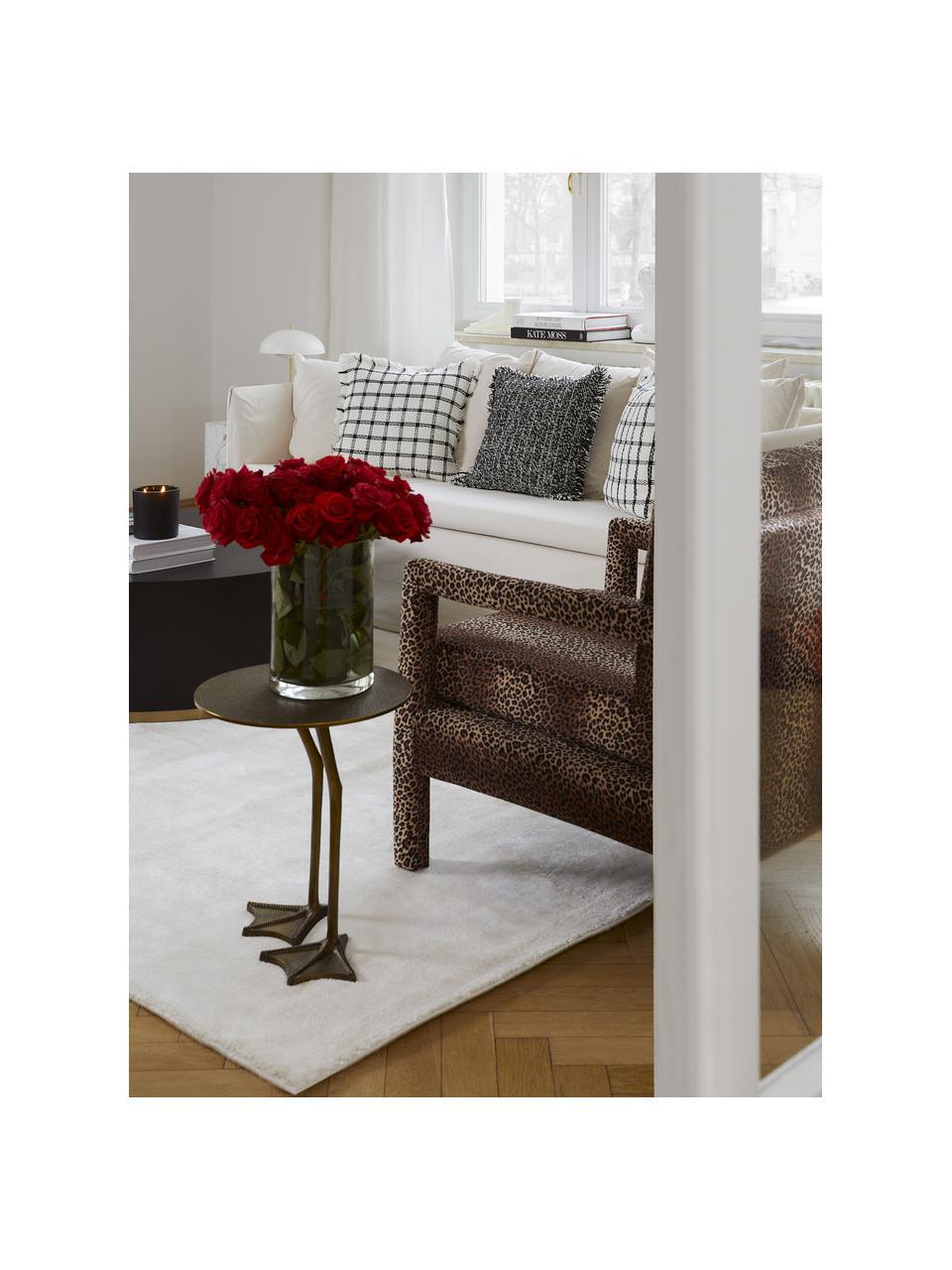 Třpytivý viskózový koberec v prémiové kvalitě Grace, extra měkký, Krémově bílá